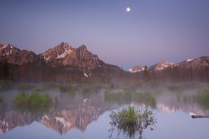 Stanley Lake in the Sawtooth Mountains, Idaho