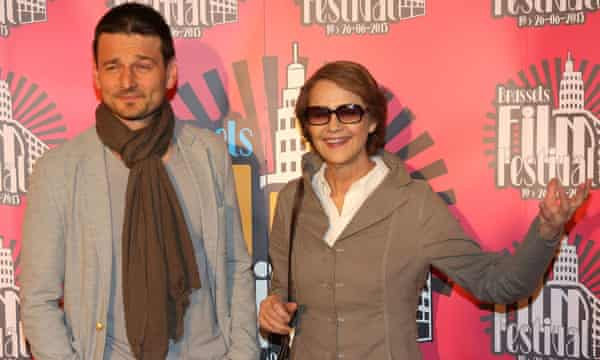 Director Barnaby Southcombe with his mother, actor Charlotte Rampling.