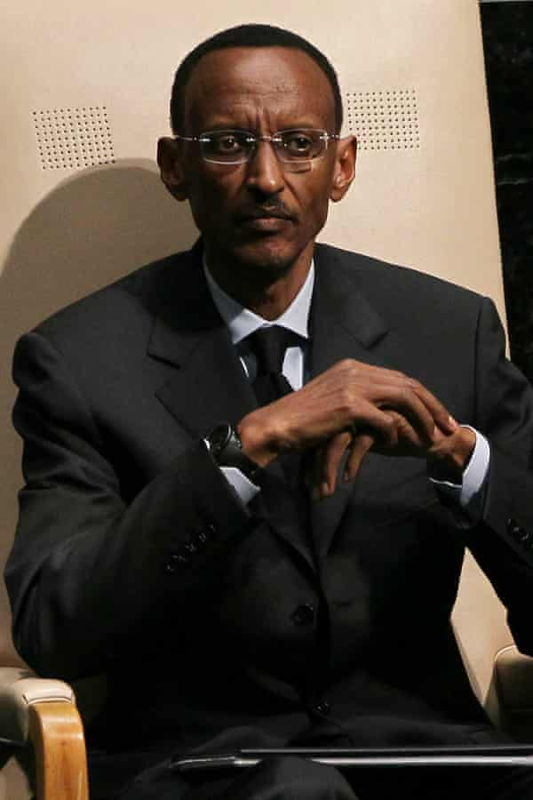 President Paul Kagame waits to address  the 65th session of the General Assembly at the United Nations on September 24, 2010 in New York City