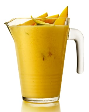 Giles Looker's mango green tea lassi.