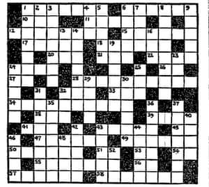 The first crossword to appear in the Manchester Guardian