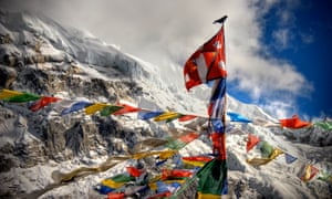 Prayers Flags at Everest Base Camp in the Himalayas