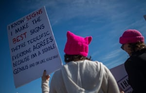 People take part in the Women's March on Washington