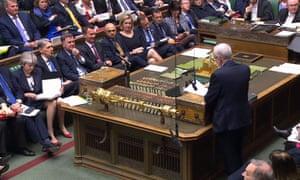 Corbyn speaks at PMQs