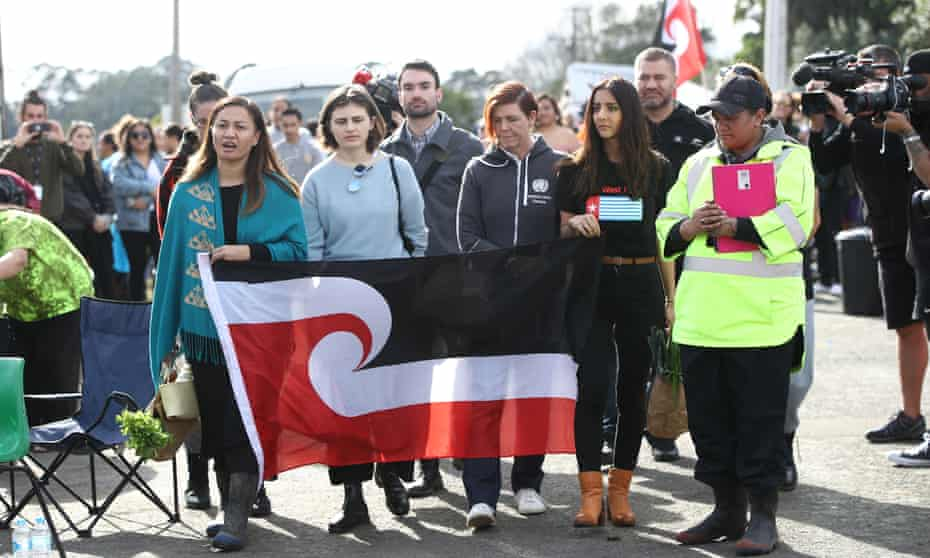 Four Green party MPs visit the Māori protest camp at Ihumātao, Auckland.
