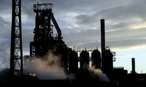 Blast furnaces of the Tata Steel plant in Port Talbot.