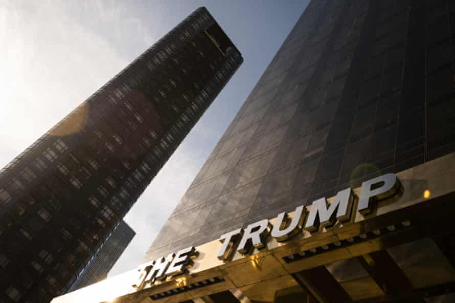 The Trump World Tower building in New York, U.S., on Sunday, Jan. 24, 2021. Donald Trump's name is emblazoned on buildings across Manhattan, usually spelled out in large gold lettering. Now, some unit owners fear that having his name on their building could harm the value of their investment.