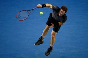 Murray unleashes his serve.