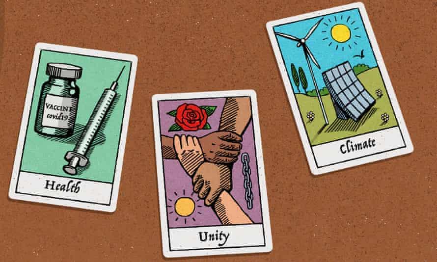 Illustration of tarot cards