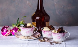 Chocolate prune and armagnac puddings.
