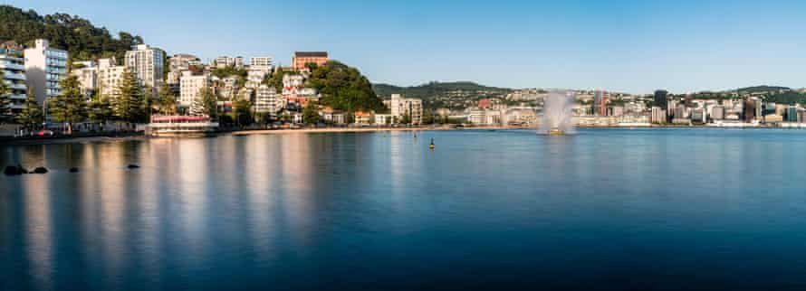 Oriental Bay and Wellington city, New Zealand.