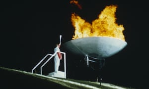 Helen Sharman, next to the flame at the 1991 World Student Games in Sheffield. It was quite a stressful trek to get there.