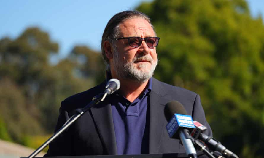 Russell Crowe announced he will be financially backing Coffs Harbour's major new film studio on Wednesday.