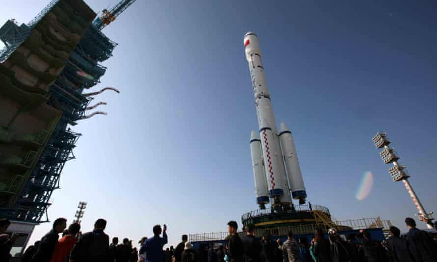 China's Long March 2-F rocket, which took the Tiangong-1 space module into space.