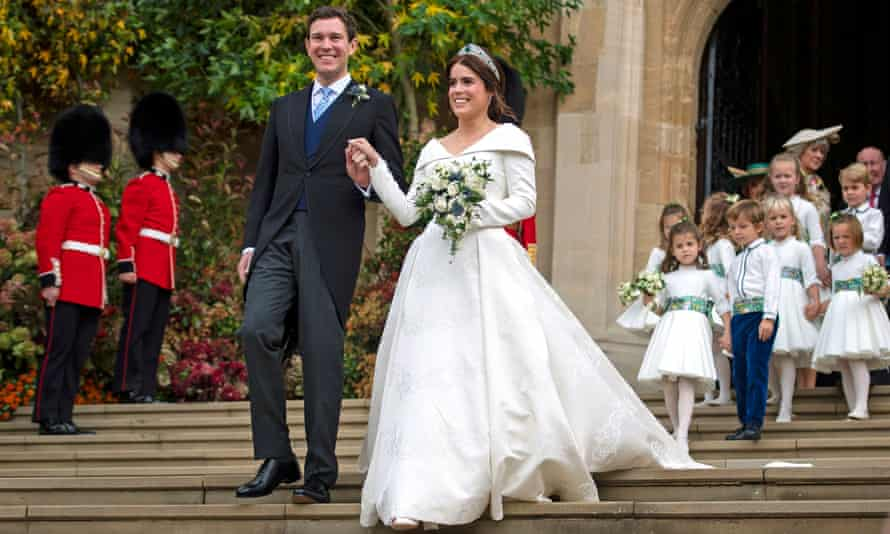 Princess Eugenie and Jack Brooksbank at St George's Chapel, Windsor Castle in 2018.