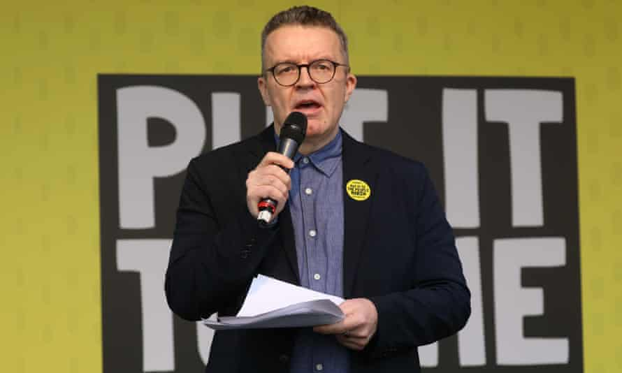 Labour's deputy leader Tom Watson had a specific message for Theresa May during Saturday's march