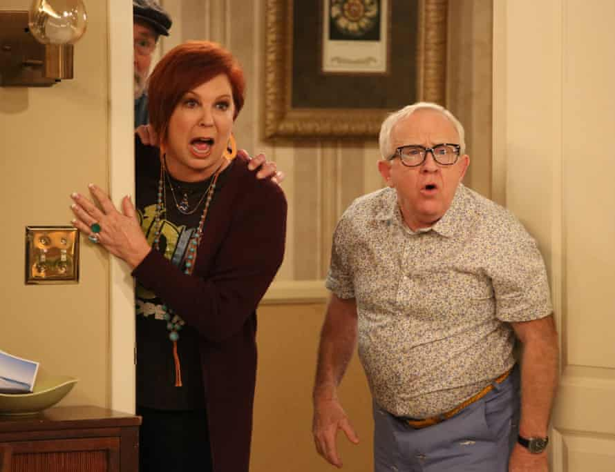 Jordan with Vicki Lawrence in The Cool Kids in 2018.