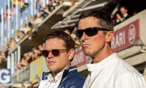 As structurally sound as a flathead V8 … Matt Damon and Christian Bale in Ford v Ferrari.