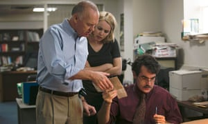 Real insights … from left, Michael Keaton, Rachel McAdams and Brian d'Arcy James in Spotlight.