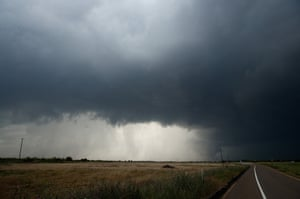 A supercell thunderstorm develops on 10 May in Paducah, Texas.