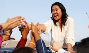 Peruvian presidential candidate Keiko Fujimori attends an election rally in Callao, Peru.