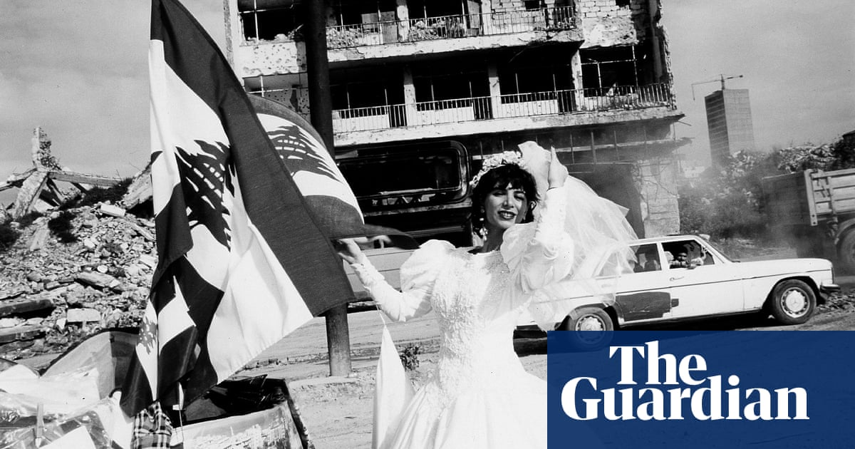 A bride waving a flag in bombed-out Beirut: Christine Spengler's best photograph