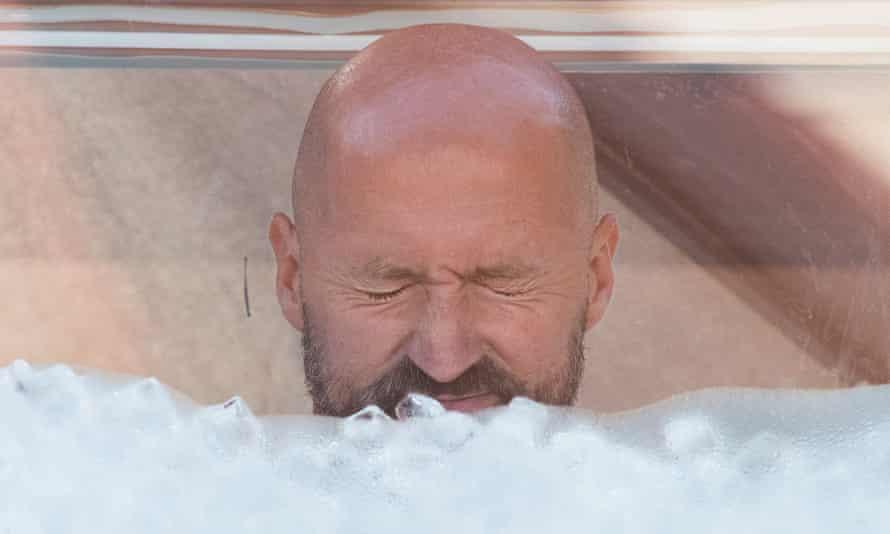 Josef Koeberl during his ice bath