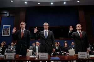 General counsels for Twitter, Facebook and Google prepare to testify before the House intelligence committee hearing on Russia's use of social media to influence the election.