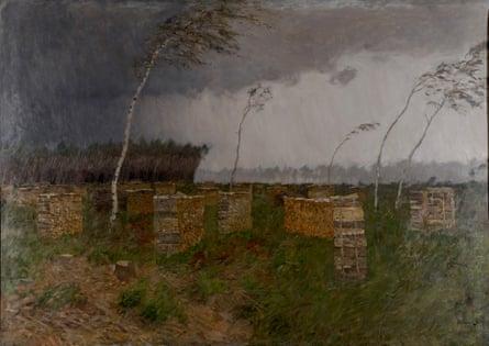 Storm, Rain. Isaak Levitan
