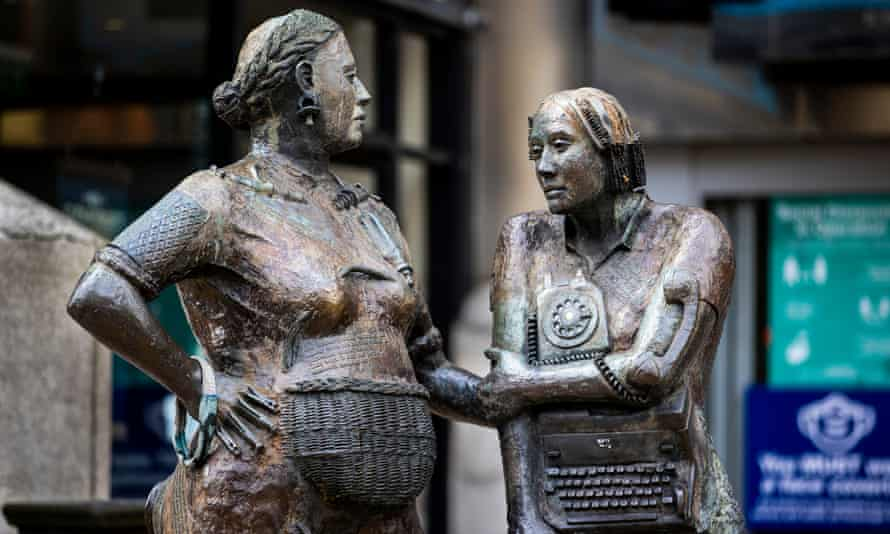 The Monument to the Unknown Woman Worker by Louise Walsh, Belfast, Northern Ireland.
