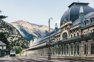 Old Train Station in Canfranc, Huesca, Spain