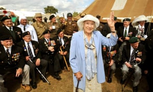 Dame Vera Lynn waves to well wishers at the War and Peace Show at Paddock Wood in Kent in July 2009