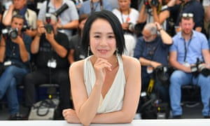 Japanese director Naomi Kawase poses at the 70th edition of the Cannes Film Festival in 2017
