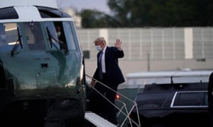 US President Donald J. Trump departs Walter Reed National Military Medical Center.
