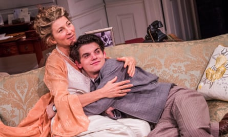Eve Best (Olivia Brown) and Edward Bluemel (Michael Brown) in Love In Idleness.