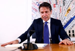 Italian Prime Minister Giuseppe Conte holds a news conference today