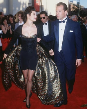 Demi Moore at the 1989 Oscars with Bruce Willis.