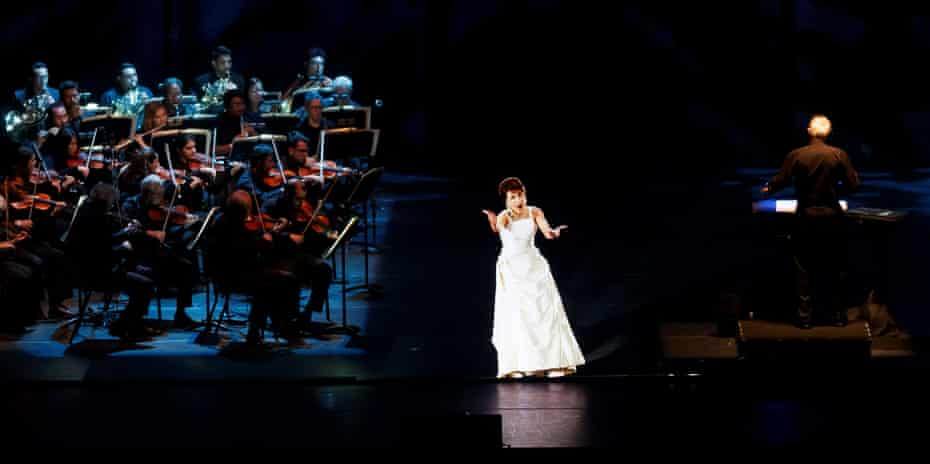 The hologram Maria Callas in concert.