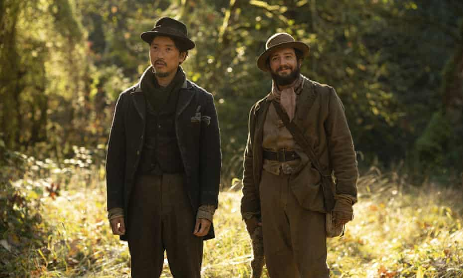 Orion Lee (King-Lu) and John Magaro (Cookie) in First Cow.