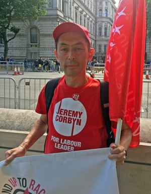 Gareth Murphy was at Whitehall to support Labour.