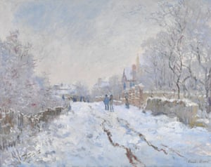 Snow Scene at Argenteuil (1875) by Claude Monet