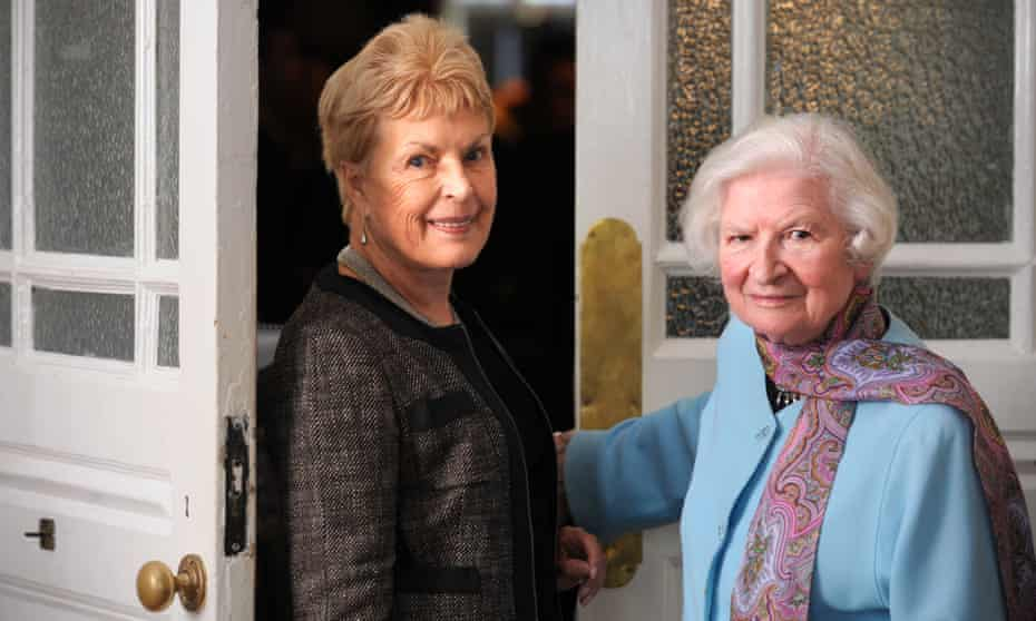 Ruth Rendell, left, and PD James.