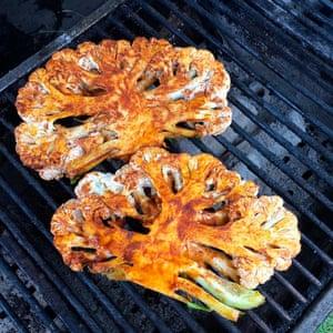 Tandoori cauliflower steaks served up at Spice Box, Kerb, Kings Cross, London
