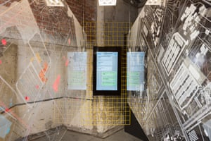 From the installation Movement as Civil Disobedience, focusing on the Greek island Lesbox, by Nora Akawi, Nina V. Kolowratnik, Johannes Pointl and Eduardo Rega.