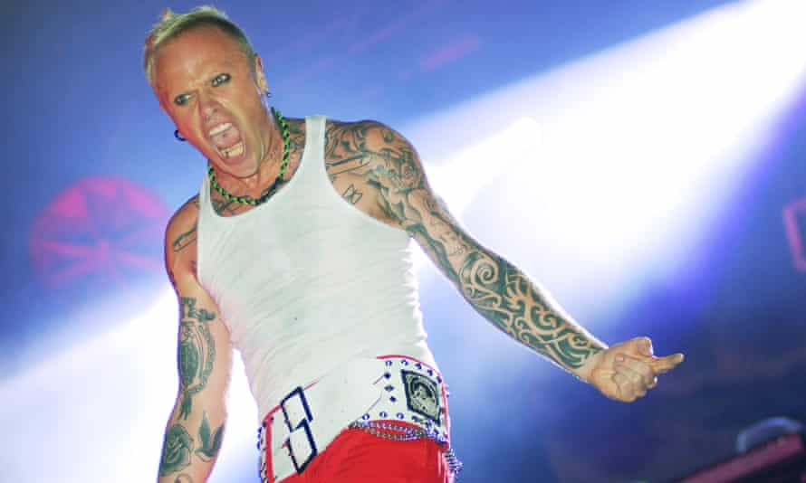 Keith Flint performing on the last day of the Glastonbury festival in 2009.