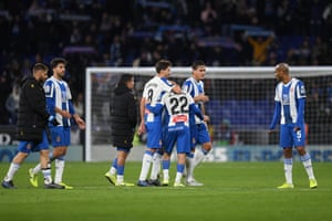 Espanyol's players after the match.