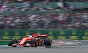 Ferrari's Sebastian Vettel during qualification for the British Grand Prix at Silverstone, Towcester, on 13 July 2019.