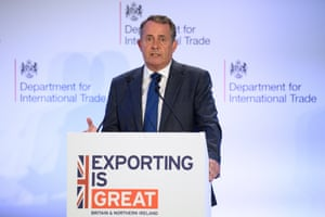 Liam Fox delivers a speech on the future of exports from the UK after Brexit