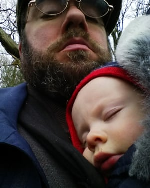 'Taking the leave gives you a change of outlook about family and work' … Seán Clarke with his son.