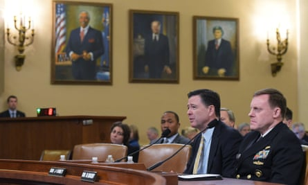 FBI director James Comey (left) and National Security Agency director Mike Rogers.